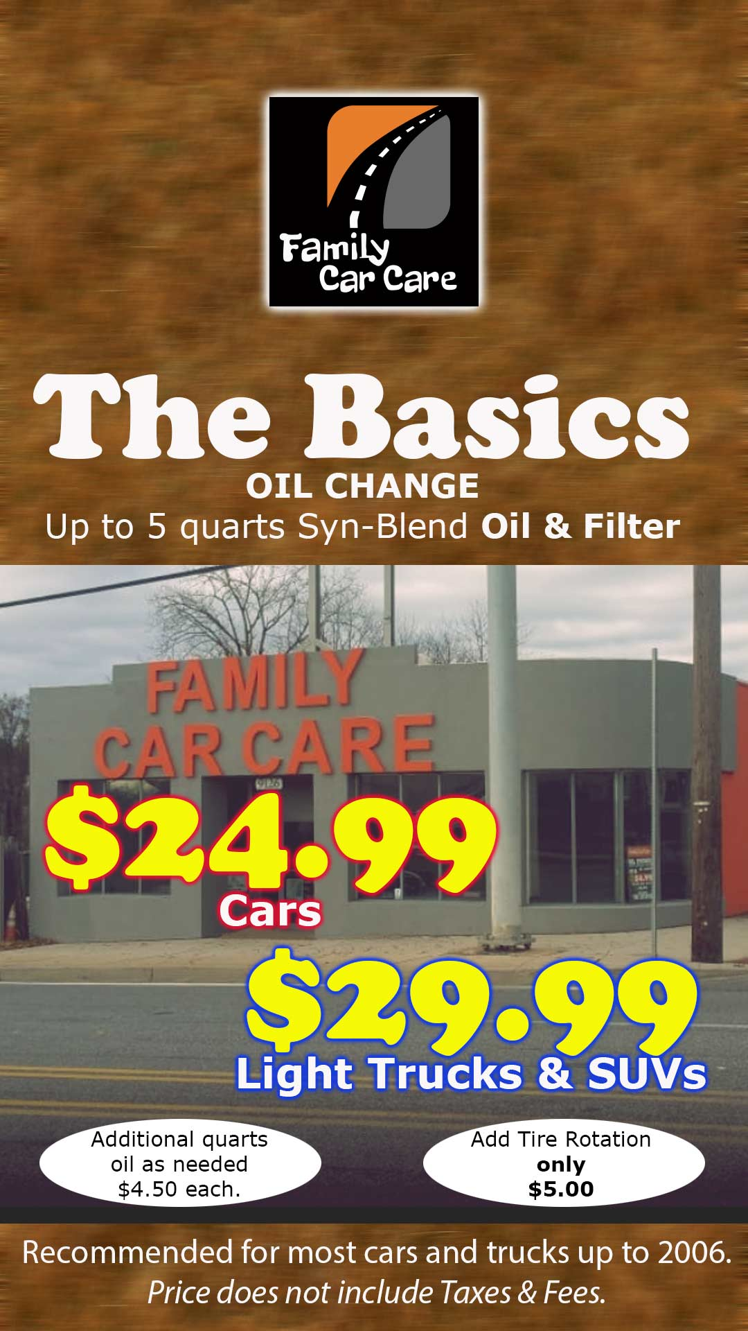 The Basic Oil Change